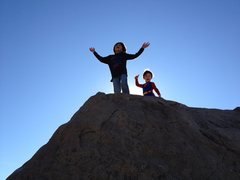 Rock Climbing Photo: Bryn and Stephen getting a taste of summit ecstasy...
