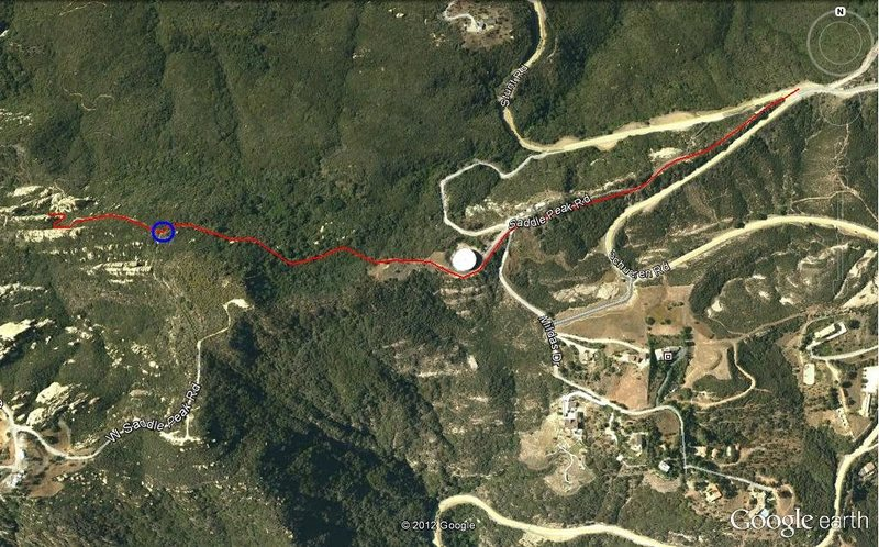 Rock Climbing Photo: Approach Trail Map  From the parking lot: Look out...
