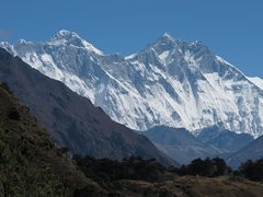 Rock Climbing Photo: Mt. Everest on the left and Lhotse on the right