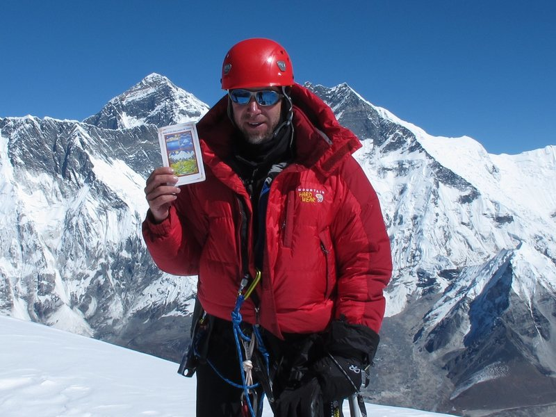 David Hyland on the summit of Ama Dablam