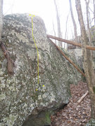 Rock Climbing Photo: Pictured in Yellow.