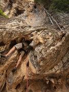 Rock Climbing Photo: Fun, slightly awkward start!