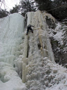 Rock Climbing Photo: There is an interesting and steep 4+ line on the r...