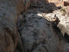 Rock Climbing Photo: Up on it.
