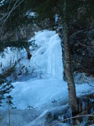 Rock Climbing Photo: The upper ice section...