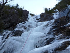 Rock Climbing Photo: Pitch 1 of Chouinard's was very wet. (Jan, 28 2012...