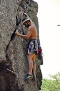 Rock Climbing Photo: Fortress Wall  Same start Fortress Fingers(5.10)/F...
