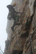 Rock Climbing Photo: Davids Castle Wall  Golden Overhang (5.10)  Crowde...