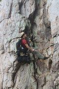 Rock Climbing Photo: Practice Wall   Gastonia Crack rappel.  Crowders M...