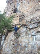 Rock Climbing Photo: Davids Castle Wall  Two Step (5.10)  Crowders Moun...