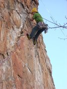 Rock Climbing Photo: Red Wall  Axis (Bold As Love) (5.11+)  Crowders Mo...