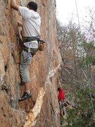 Rock Climbing Photo: Red Wall  Thumbdercling! Fashion Direct (5.12c)  C...