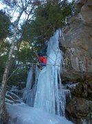 Rock Climbing Photo: JG, ropeless on the FKA. 2/5/12