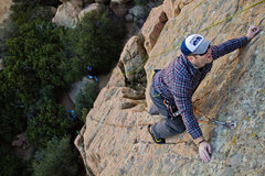 "Rock Climbing Photo: This angle makes ""The Roof Route"" look a..."
