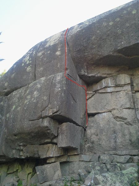 Rock Climbing Photo: Scarred For Life 5.11 The upper crack is hard to p...