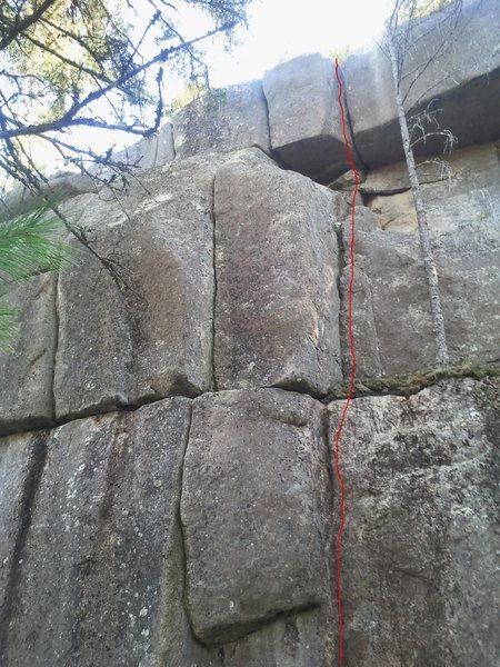 Rock Climbing Photo: Hall On Jams 10a