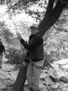Rock Climbing Photo: Belaying at prison camp.