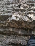 Rock Climbing Photo: Start boulder problem.