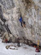 Rock Climbing Photo: Dani on lead