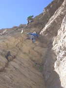 """Rock Climbing Photo: Sam belaying Aaron on 2nd pitch above """"Good G..."""