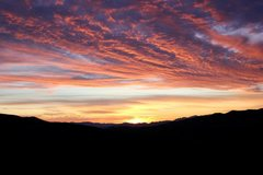 Rock Climbing Photo: A beautiful sunset to end a great day climbing at ...
