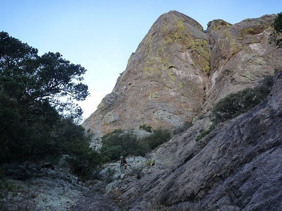 Rock Climbing Photo: Humungous Woosey From the gully.