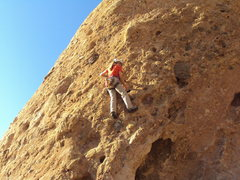 "Rock Climbing Photo: Enjoying the steep pockets of ""The Green Mile..."