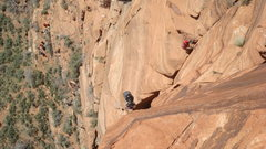 Rock Climbing Photo: pitch up to farewell ledge