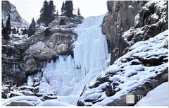 Rock Climbing Photo: Tears of the Snow Leopard Waterfall