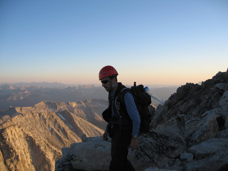 Rock Climbing Photo: Reaching the summit a bit late!