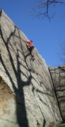 Rock Climbing Photo: A committing final set of moves!