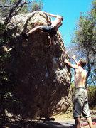 Rock Climbing Photo: Desperate Top out!