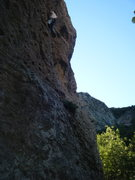 Rock Climbing Photo: Clip'n in to the 6th bolt
