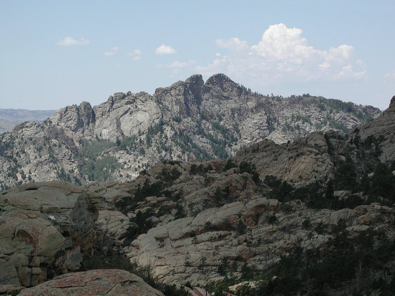 Rock Climbing Photo: Split Rock as seen from Reese Mtn.  It's gneiss an...