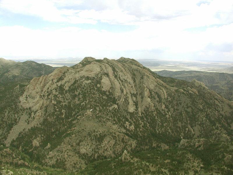 Rock Climbing Photo: Reese Mtn  from Split Rock Summit