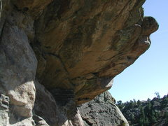 Rock Climbing Photo: The Salt Creek Roof in the Kennedy Ranch Rocks gro...
