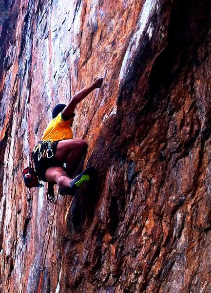 Rock Climbing Photo: Red Wall  Fashion(5.12b) Sport  Crowders Mountain ...