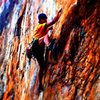 Red Wall<br> <br> Fashion(5.12b) Sport<br> <br> Crowders Mountain State Park, North Carolina