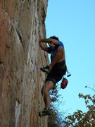 Rock Climbing Photo: Red Wall  Fashion(5.12b)  Crowders Mountain State ...