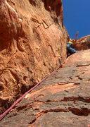 Rock Climbing Photo: Pitch 2 post crux.