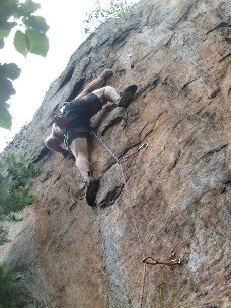 Rock Climbing Photo: Red Wall  Silence The Critics(5.12) Sport  Crowder...