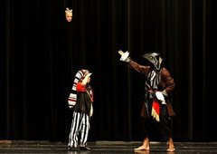Rock Climbing Photo: Playing Captain Hook in a children's production of...
