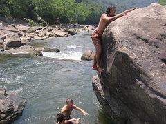 Rock Climbing Photo: Hawknest Bouldering in West Virginia.