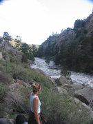 Rock Climbing Photo: High water in Laramie River Canyon 2010 perhaps 34...