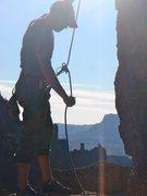 Rock Climbing Photo: Belaying at the Pond