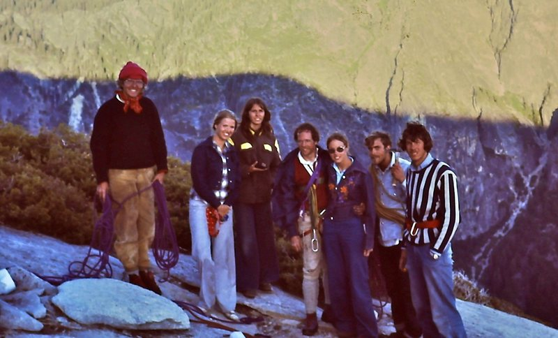 Top out on the Nose with wives and friends - June '75