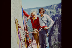 Rock Climbing Photo: El Cap Tower in June '75.  Swami belt and Levi...