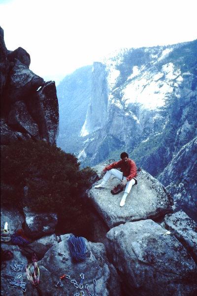 Rock Climbing Photo: Top of the Chouinard Herbert on Sentinal.  Fast an...