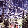 1981  After Travelers Buttress - the Leap.<br> <br> With ultra runner and climber Bryce Thatcher.  <br> <br> Bryce held the speed record on the Grand Teton round trip for 29 years.  He set it two times, once when he was 18 and three years later when he was 21.  <br> <br> His fastest time was 3:06.  The current record is 2:53