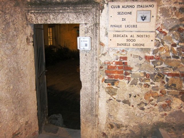 Headquarters for the CAI's Finale Ligure chapter